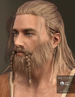 Adrian Hair and Beard for Genesis 3 Male(s)