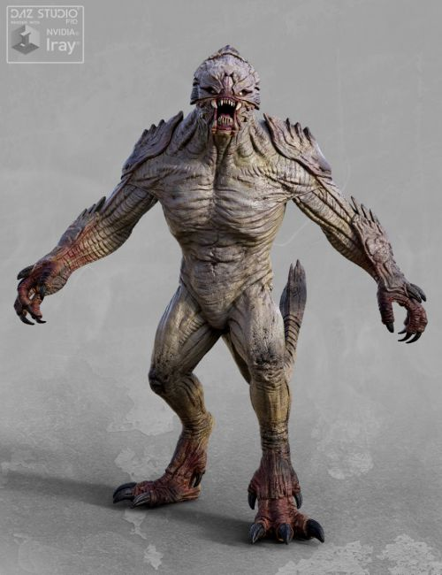 Res mortifera 3d models for daz studio and poser for Monster 3d model