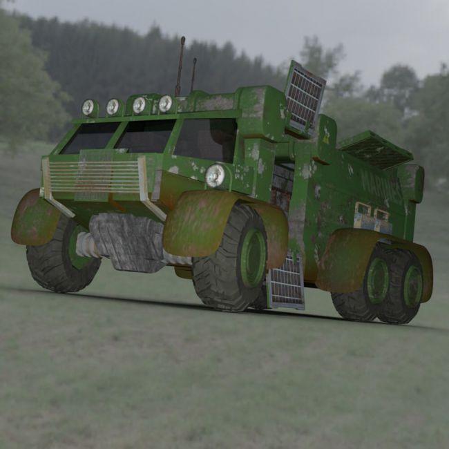 Sci-Fi Truck - Heavy Duty (for DAZ Studio)