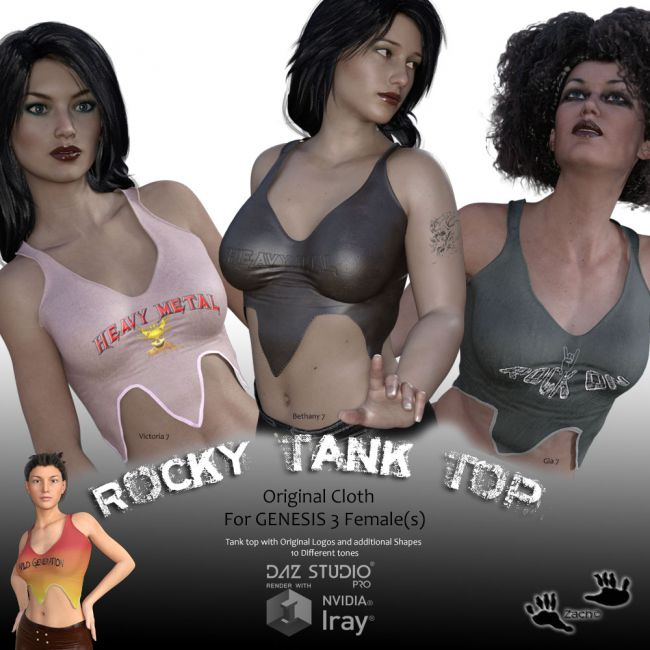 Rocky Tank Top for GENESIS 3 Females
