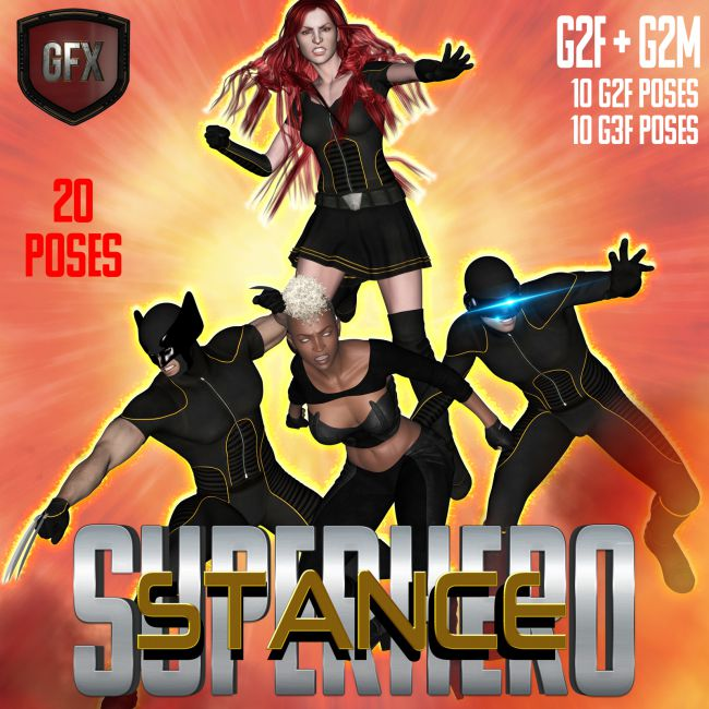 SuperHero Stance for G2F and G2M Volume 1