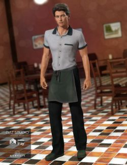 Restaurant Waiter Uniform for Genesis 3 Male(s)