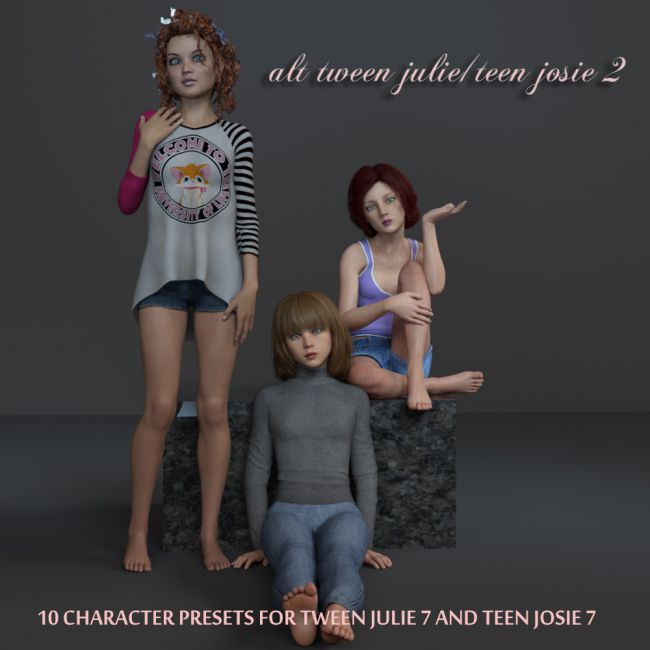 Alt Tween Julie/Teen Josie 3D Figure Assets AliveSheCried