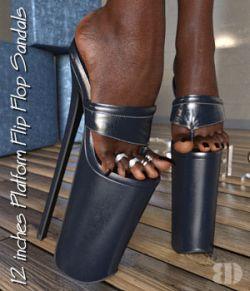 DANGERHEELS - 12 inches Platform Flip Flop Sandals