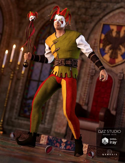 The Shadow Jester Outfit for Genesis 3 Male(s)