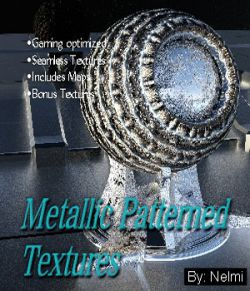 10 Patterned Metallic Textures with Texture Maps