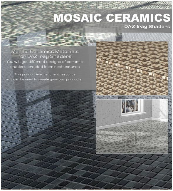 DAZ Iray - Mosaic Ceramics