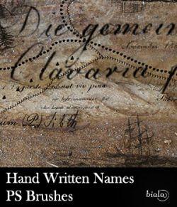 Hand Written Names