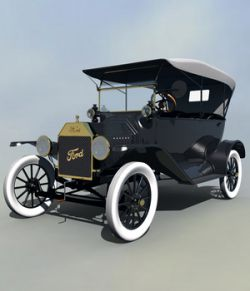 FORD T TOURING 1915 EXTENDED LICENSE
