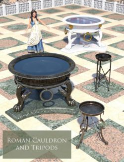 Roman Cauldron and Tripods
