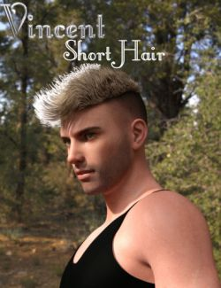 Vincent Short Hair for Genesis 3 Male(s)