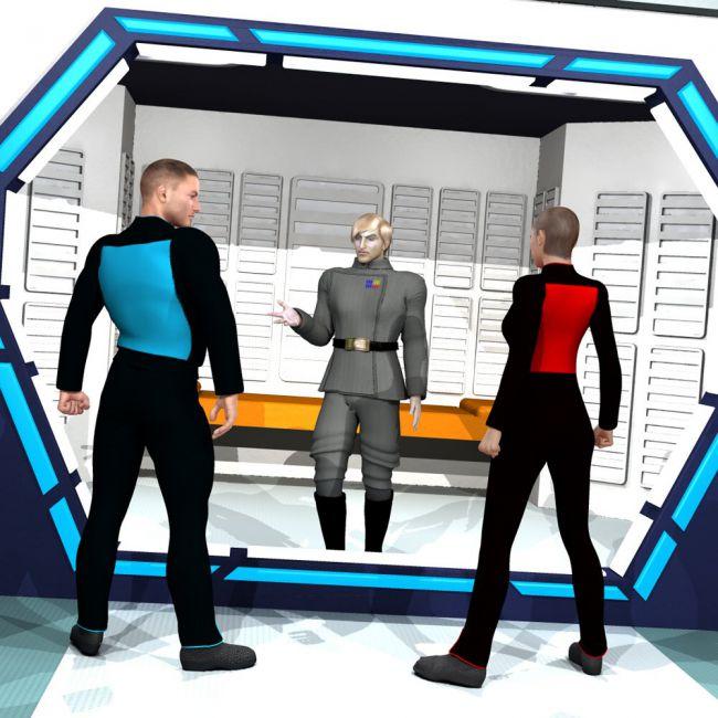 Sci-Fi Brig - for Poser