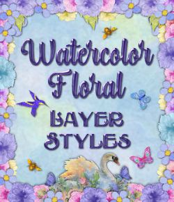 Watercolor Floral Layer Styles
