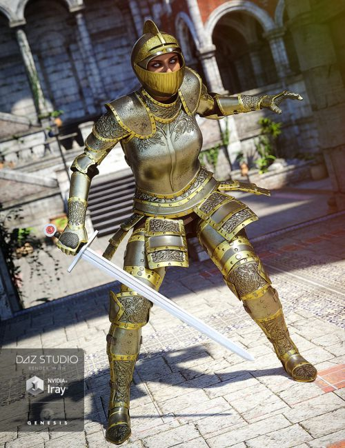 Knight Armor for Genesis 3 Female(s)