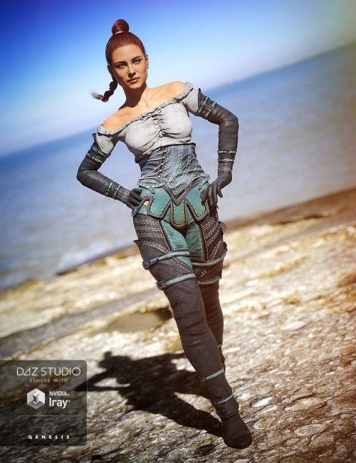 Knight Winds Outfit for Genesis 3 Female(s)