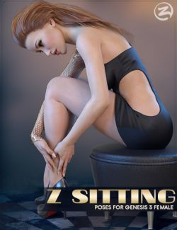 Z Sitting- Poses for Genesis 3 Female