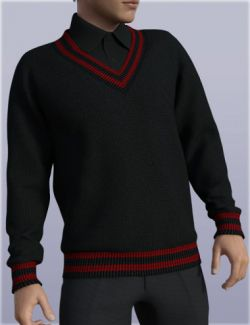 H&C V-Neck Sweater Outfit for Genesis 3 Male(s)