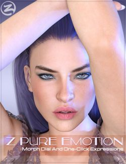 Z Pure Emotion- Dialable and One-Click Expressions for the Genesis 3 Female(s)