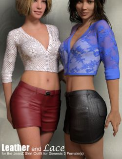 Leather and Lace Textures for JeanZ Skirts