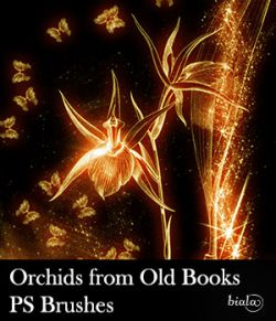 Orchids from Old Books PS Brushes