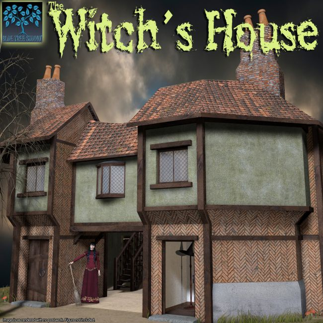 Witch S House Architecture For Poser And Daz Studio