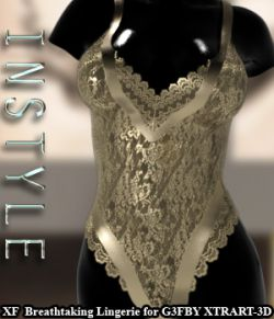 InStyle- X-Fashion Breathtaking Lingerie for Genesis 3 Females