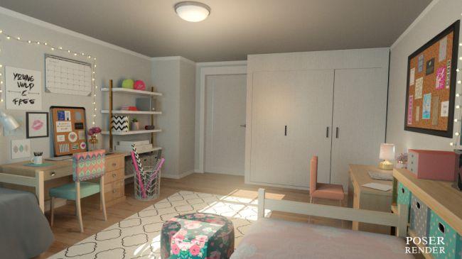 Decorating Ideas > Girls Dorm Room  Architecture For Poser And Daz Studio ~ 023626_Dorm Room Design Software
