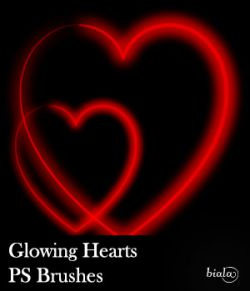 Glowing Hearts PS Brushes