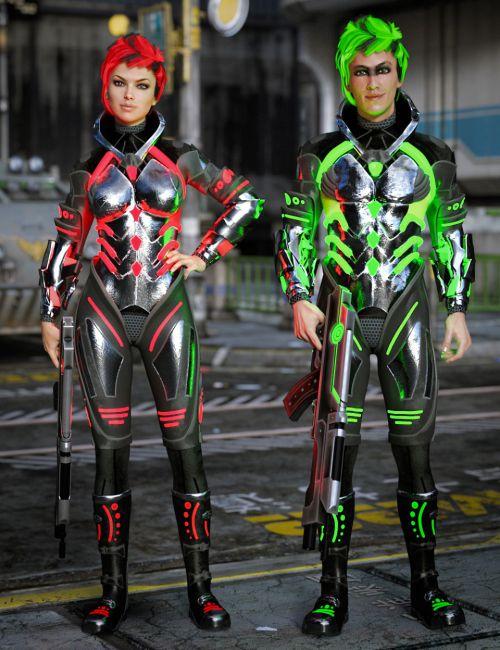 GlowFi Bodysuit for Genesis 3