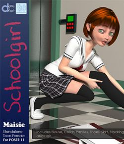 Maisie Schoolgirl Clothing and Hair