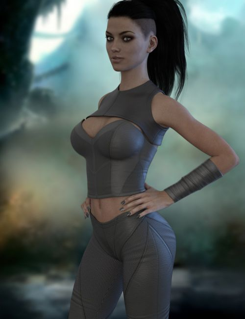 X-Fashion Mesh Outfit for Genesis 3 Female(s)