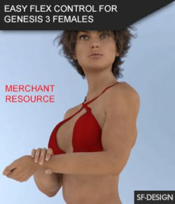 Easy Flex- Muscle Flexing Control for Genesis 3 Females and Merchant Resource