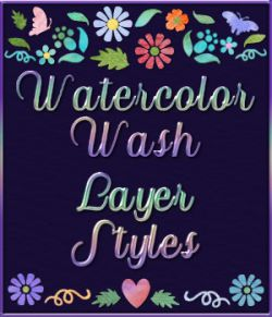 Watercolor Wash Layer Styles