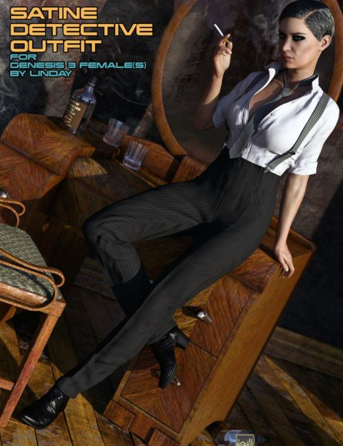 Satine Detective Outfit for Genesis 3 Female(s)
