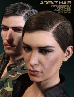 Agent Hair for Genesis 3 Female(s) and Male(s)