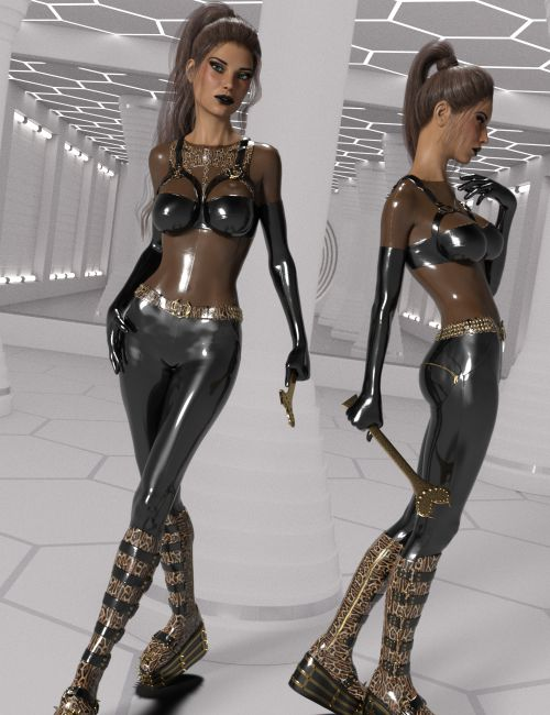 InStyle - Wetlook Outfit 2 for Genesis 3 Females