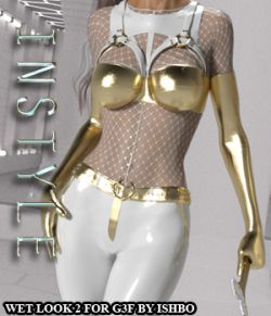 InStyle- Wetlook Outfit 2 for Genesis 3 Females