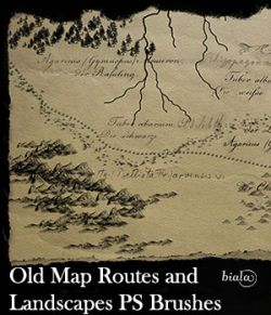 Old Map Routes and Landscapes PS Brushes