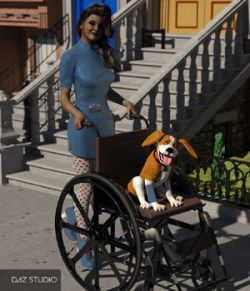Wheelchair for DAZ Studio