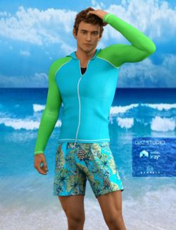 H&C Rash Guard Outfit for Genesis 3 Male