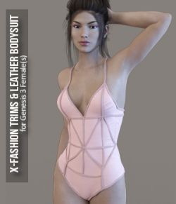 X-Fashion Trims & Leather for Genesis 3 Females