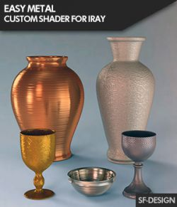 Easy Metal- Custom Metal and Metallic Shader for Iray