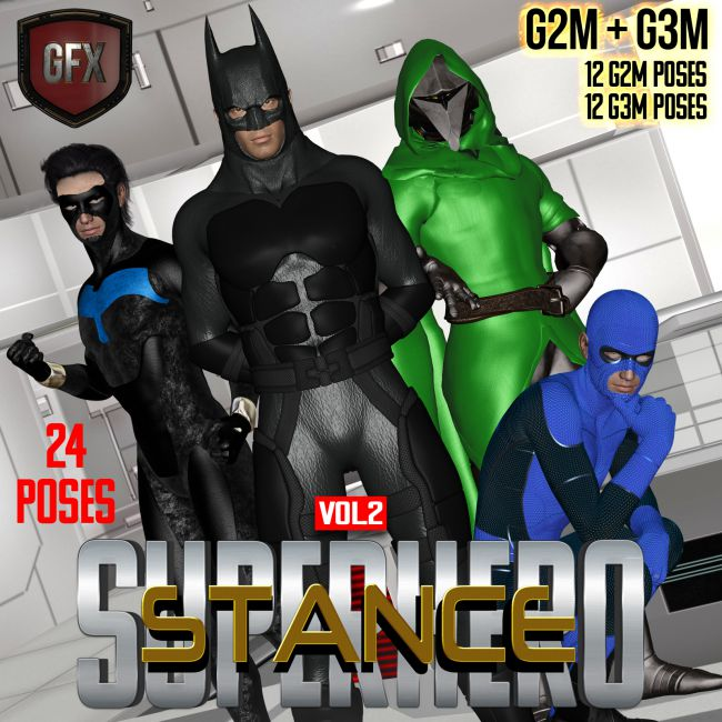 SuperHero Stance for G2M & G3M Volume 2