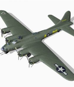 B 17G Flying Fortress fbx format - Extended License