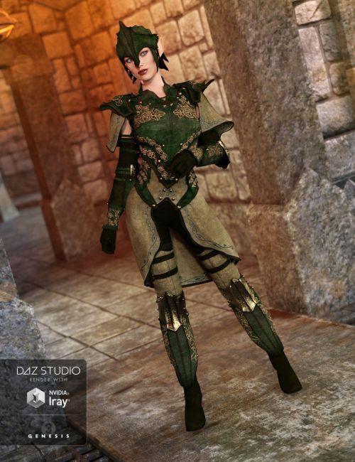 Elven Knight Armor for Genesis 3 Female(s) | 3D models for