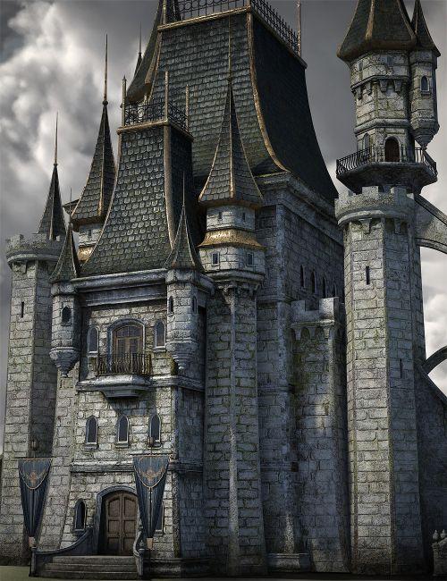 Fantasy Castle Keep 2 For Iray 3d Models For Daz Studio