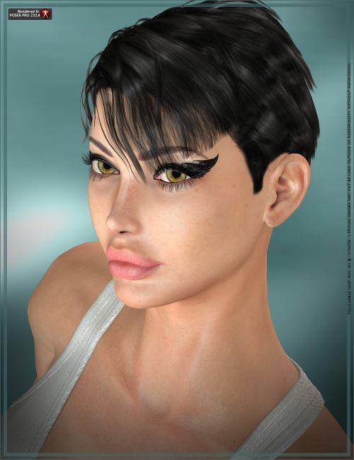 heroine hair styles touchable heroine hair for poser and