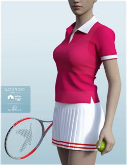 H&C Tennis Wear Set for Genesis 3 Female(s)