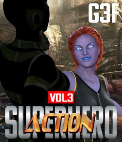 SuperHero Action for G3F Volume 3