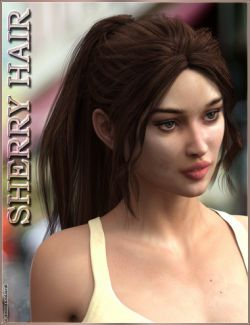 Sherry Hair for Genesis 3 Female(s)